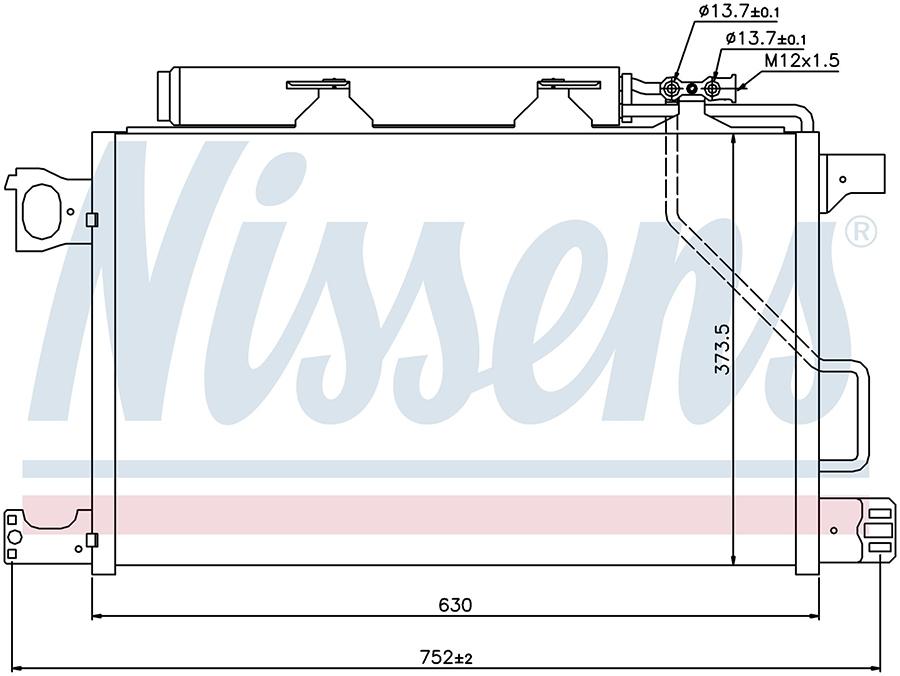 Радиатор кондиционера 94794 Nissens