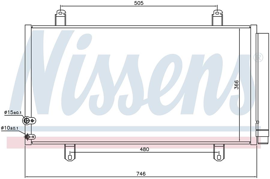 Радиатор кондиционера 940443 Nissens