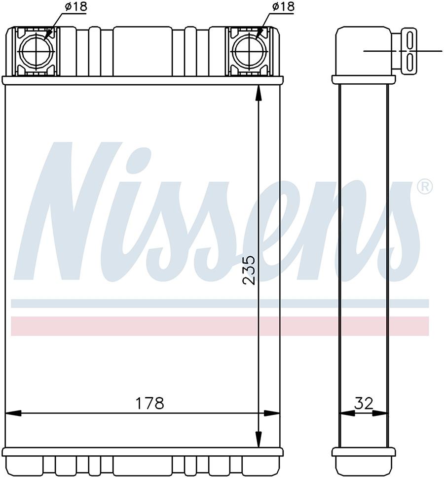 Радиатор отопителя 72028 Nissens