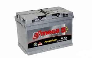 Аккумулятор A-Mega Premium R+ (75Ah) low