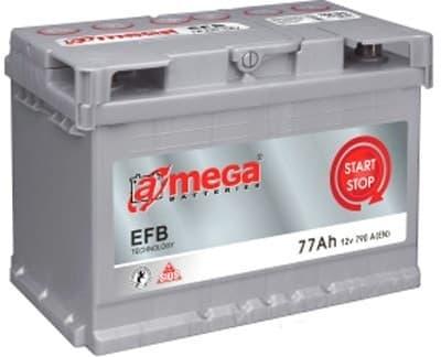 Аккумулятор A-mega EFB 77 R (77Ah)