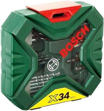 Набор торцевых головок и бит Bosch X-Line Classic 34 предмета 2607010608