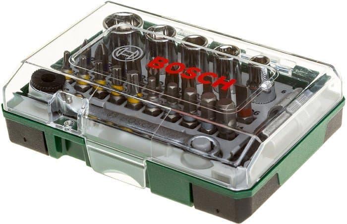 Набор торцевых головок и бит Bosch Promoline 27 предметов 2607017160