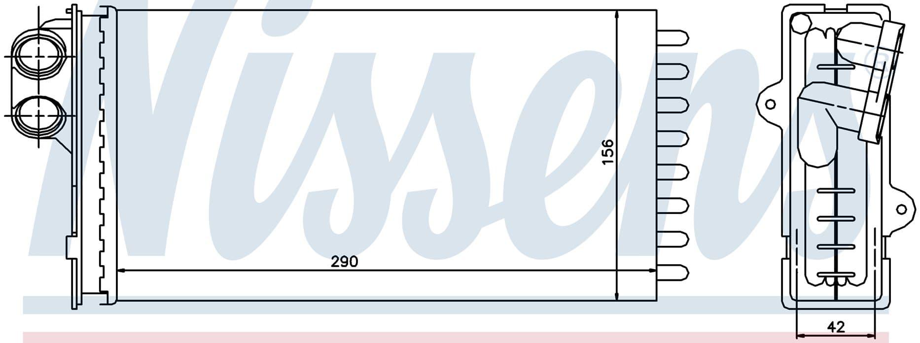 Радиатор печки NISSENS 71145