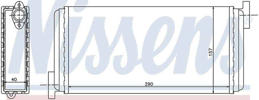 Радиатор отопителя 72002 Nissens
