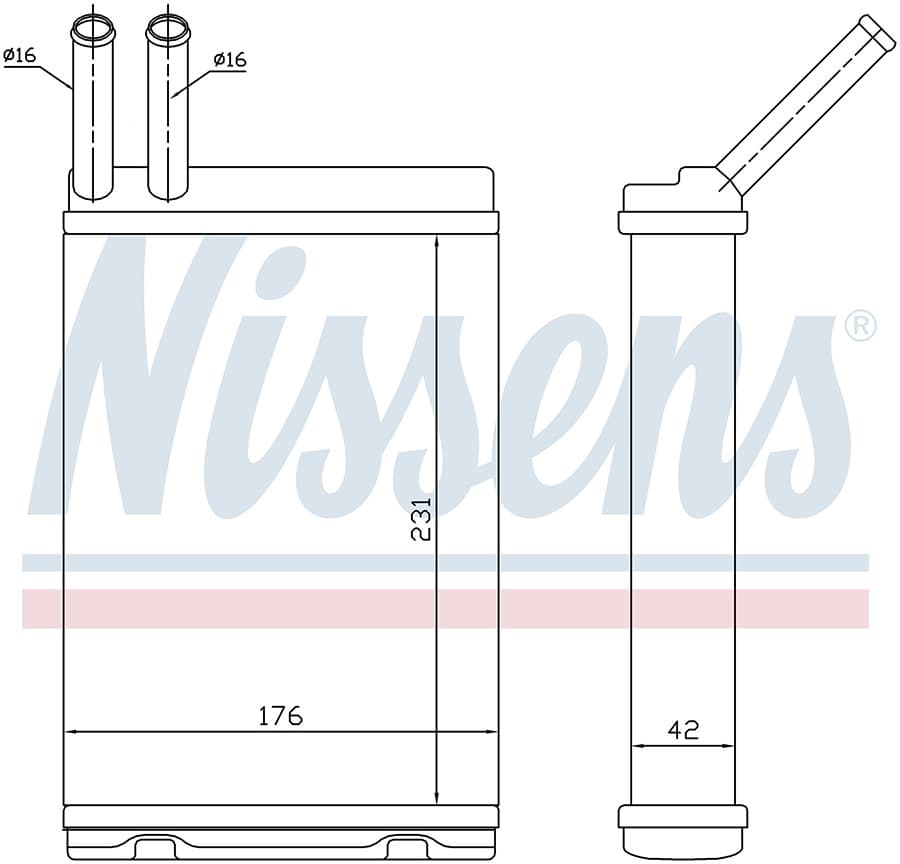 Радиатор печки NISSENS 73642