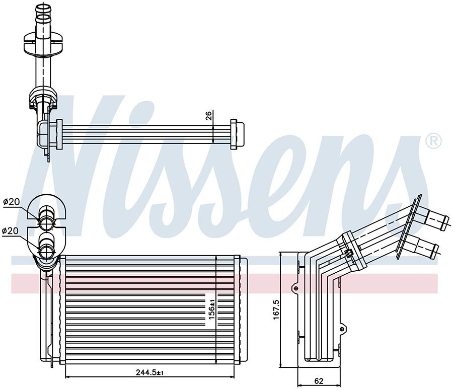 Радиатор отопителя 73973 Nissens