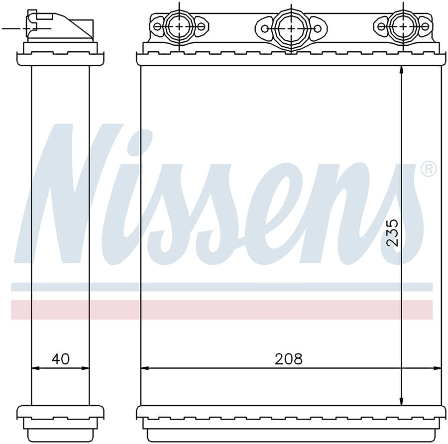 Радиатор печки NISSENS 72016
