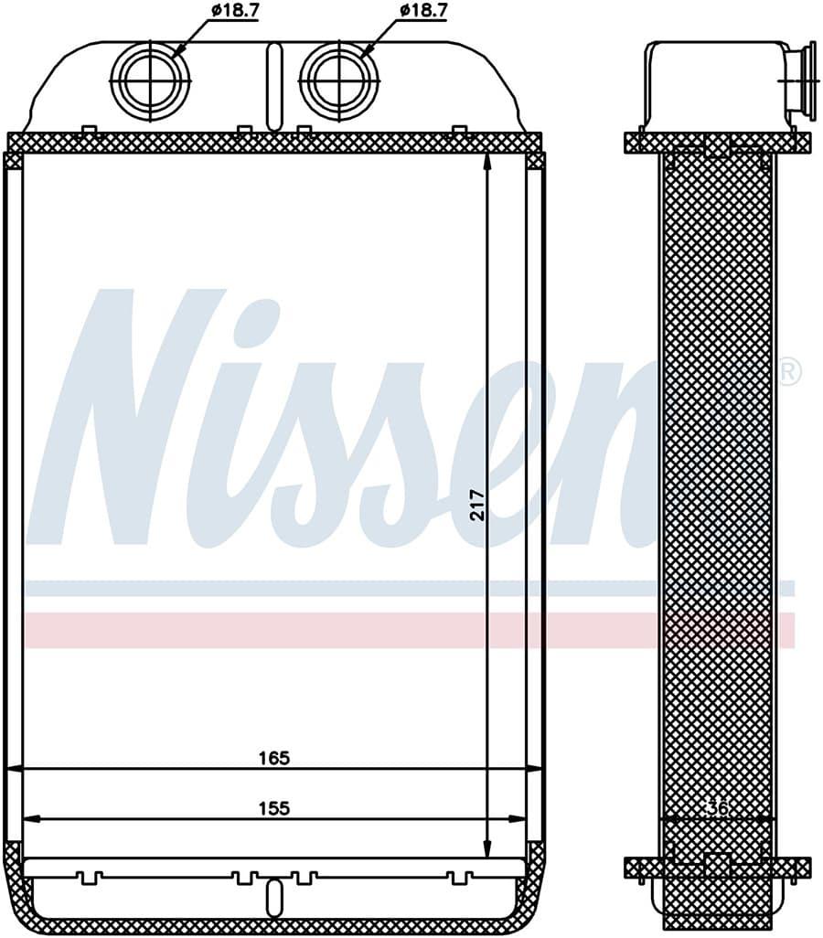 Радиатор печки NISSENS 70232