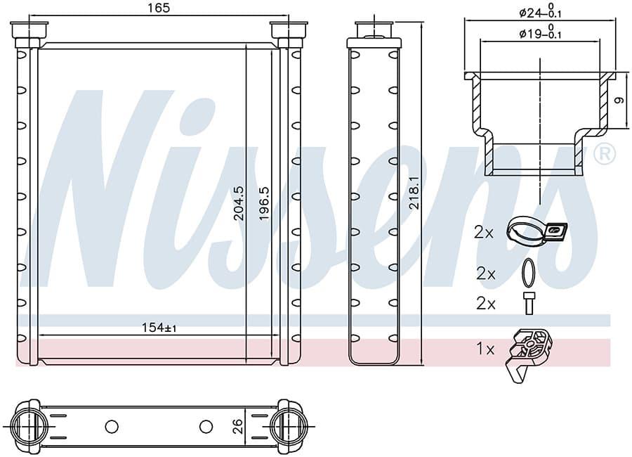 Радиатор печки NISSENS 72065