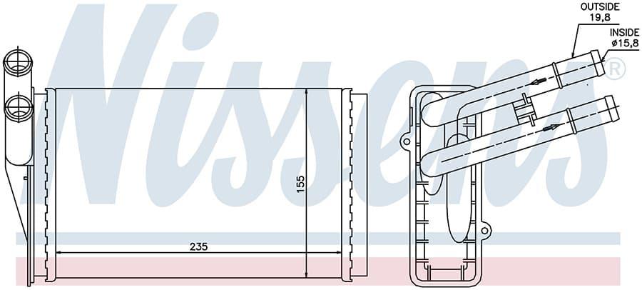 Радиатор печки NISSENS 70221