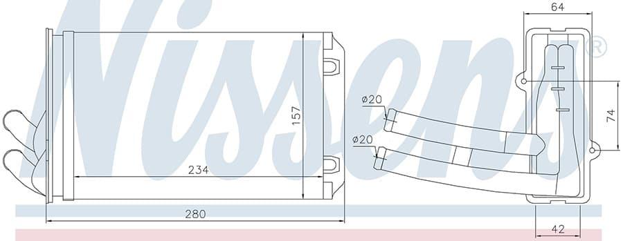 Радиатор печки NISSENS 70222