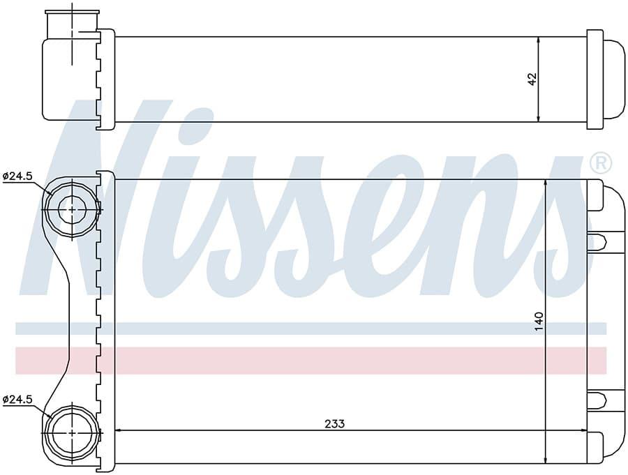 Радиатор отопителя 70226 Nissens