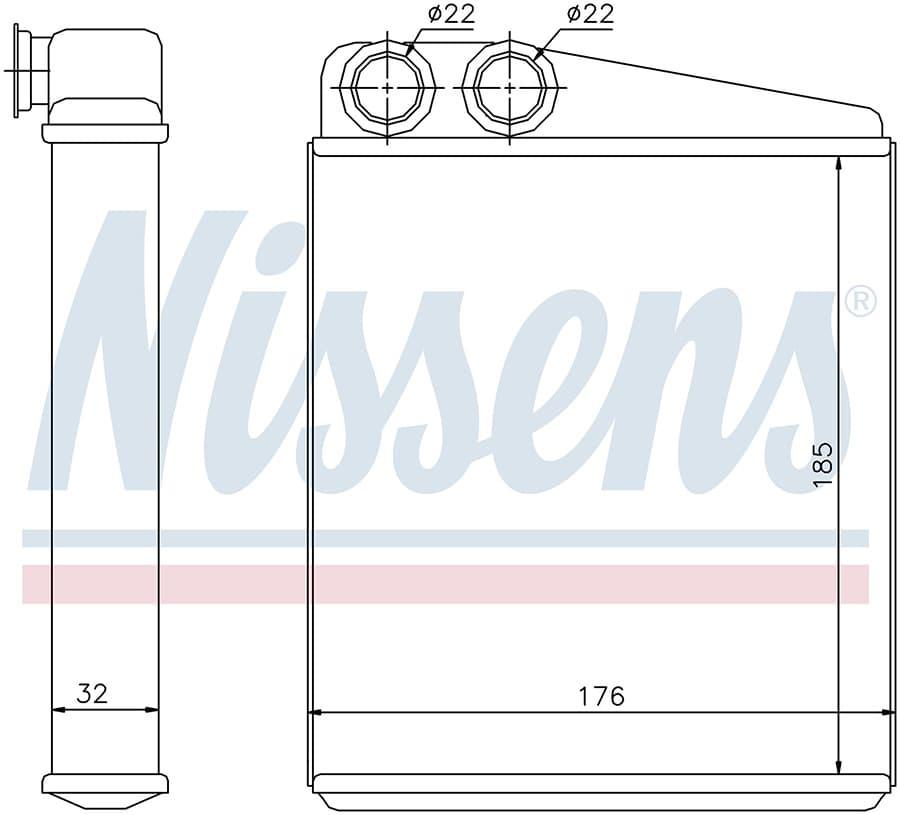 Радиатор отопителя 70228 Nissens