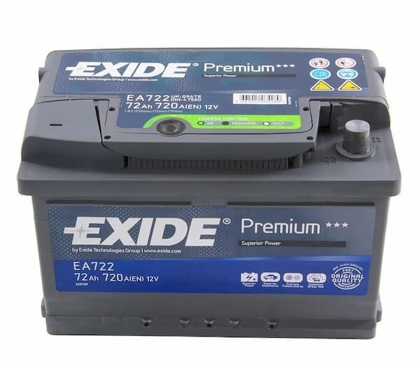Аккумулятор Exide Premium EA722 (72Ah)