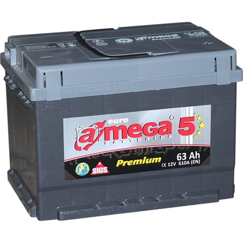 Аккумулятор A-mega Premium 63R low (62 А/ч)