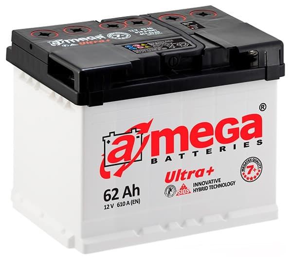 Аккумулятор A-Mega Ultra Plus R+ (62Ah)
