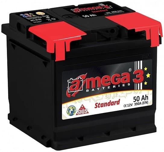 Аккумулятор A-mega Standard 50 R 50 Ач