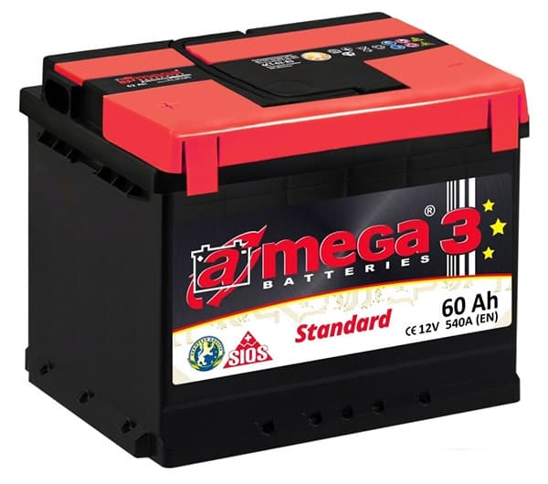 Аккумулятор A-Mega Standard R+ (60Ah)
