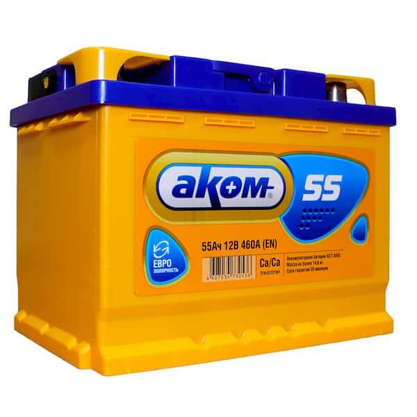 Аккумулятор Аком 6СТ-55 Евро (55 А/ч)