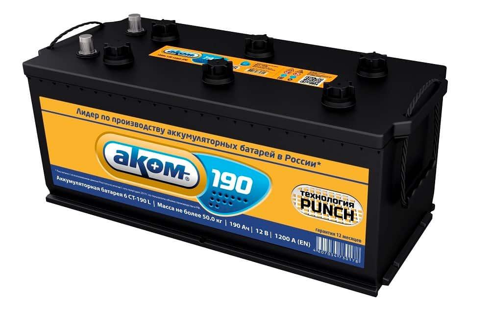 Аккумулятор Aком 6СТ-140 Евро (140 А/ч)