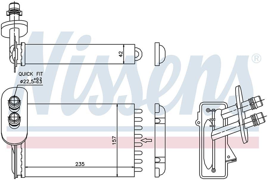 Радиатор отопителя 73921 Nissens