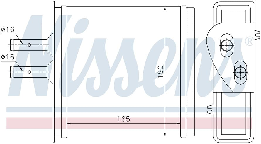 Радиатор печки NISSENS 71442