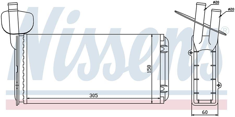 Радиатор отопителя 73965 Nissens