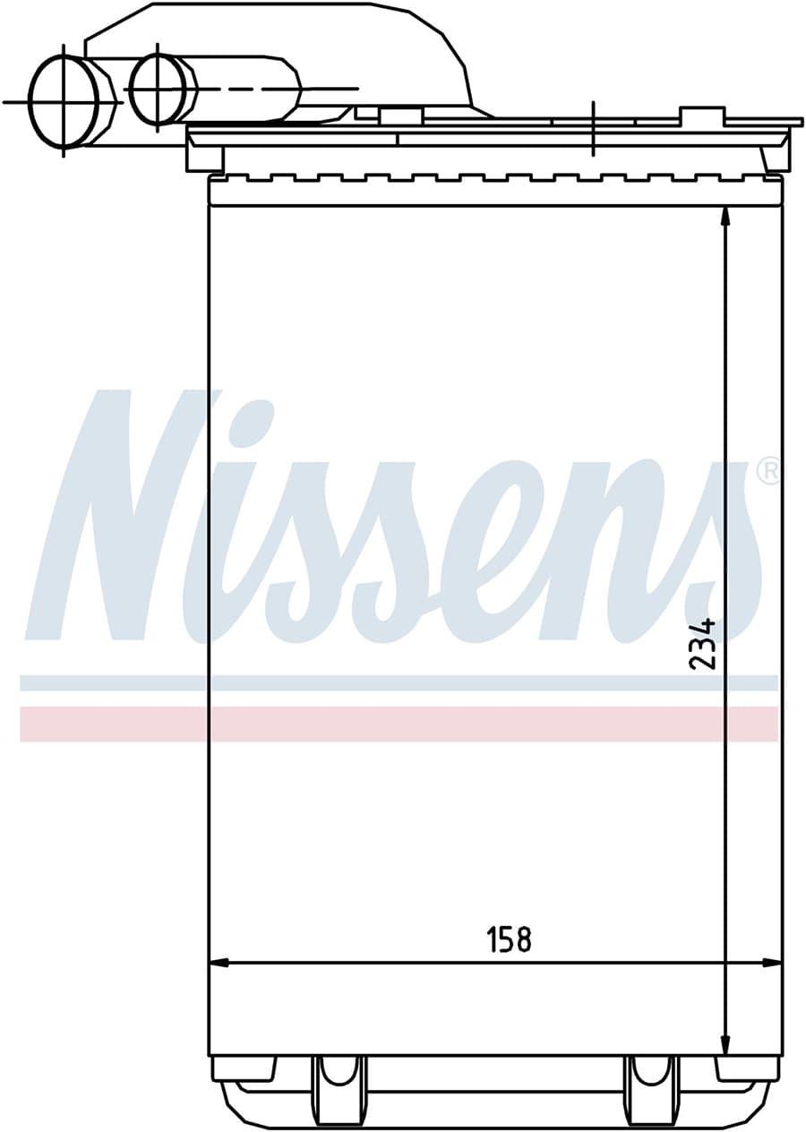 Радиатор печки NISSENS 73252