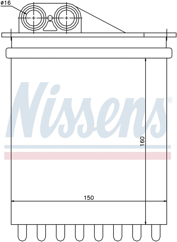Радиатор печки NISSENS 72040