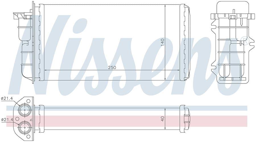 Радиатор печки NISSENS 71441