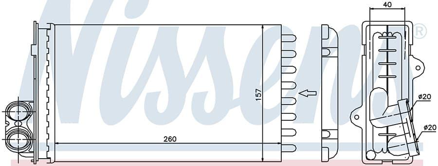 Радиатор отопителя 73362 Nissens