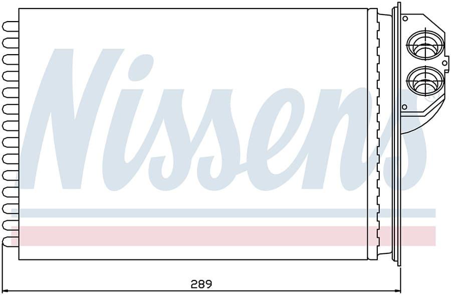 Радиатор отопителя 72943 Nissens