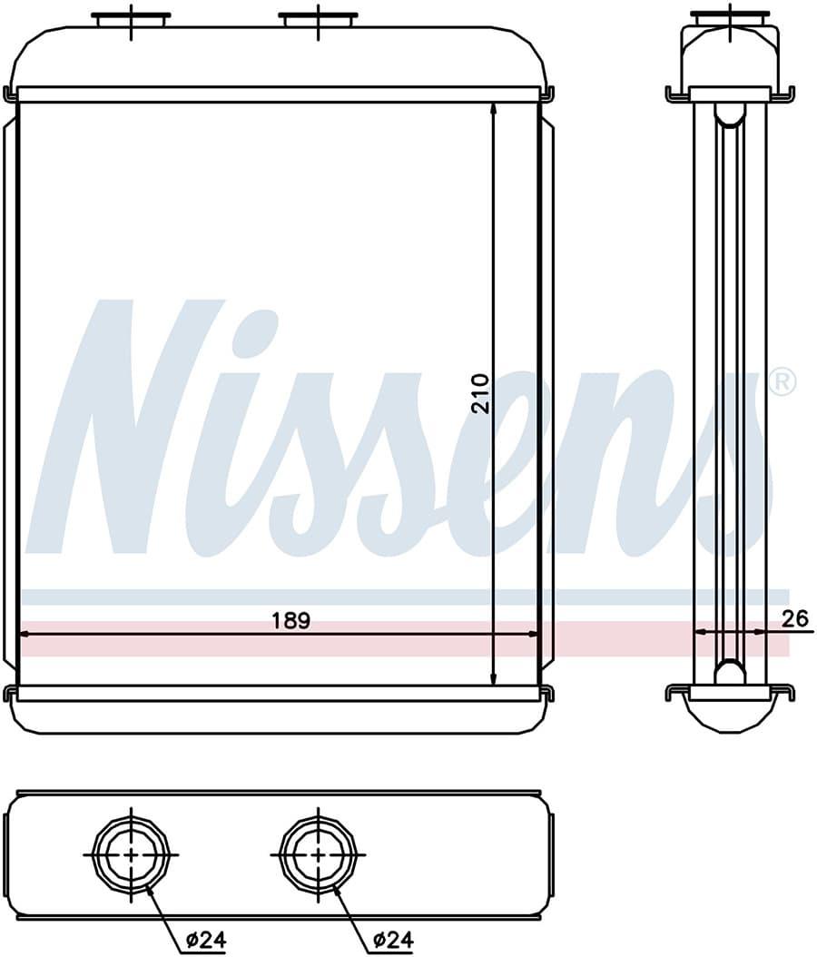 Радиатор отопителя 72662 Nissens