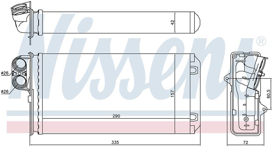 Радиатор отопителя 72937 Nissens