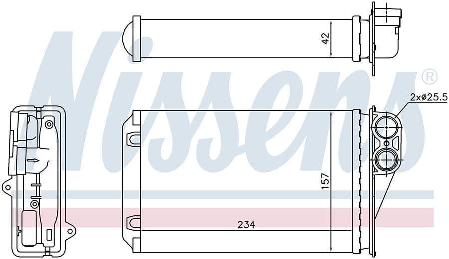Радиатор отопителя 72946 Nissens