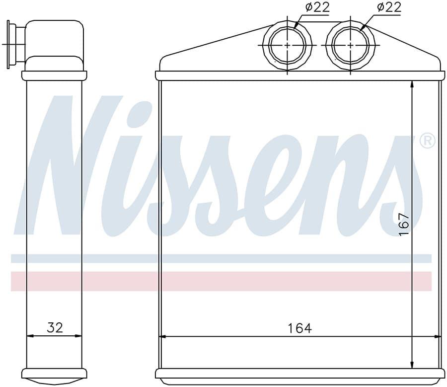 Радиатор отопителя 72661 Nissens