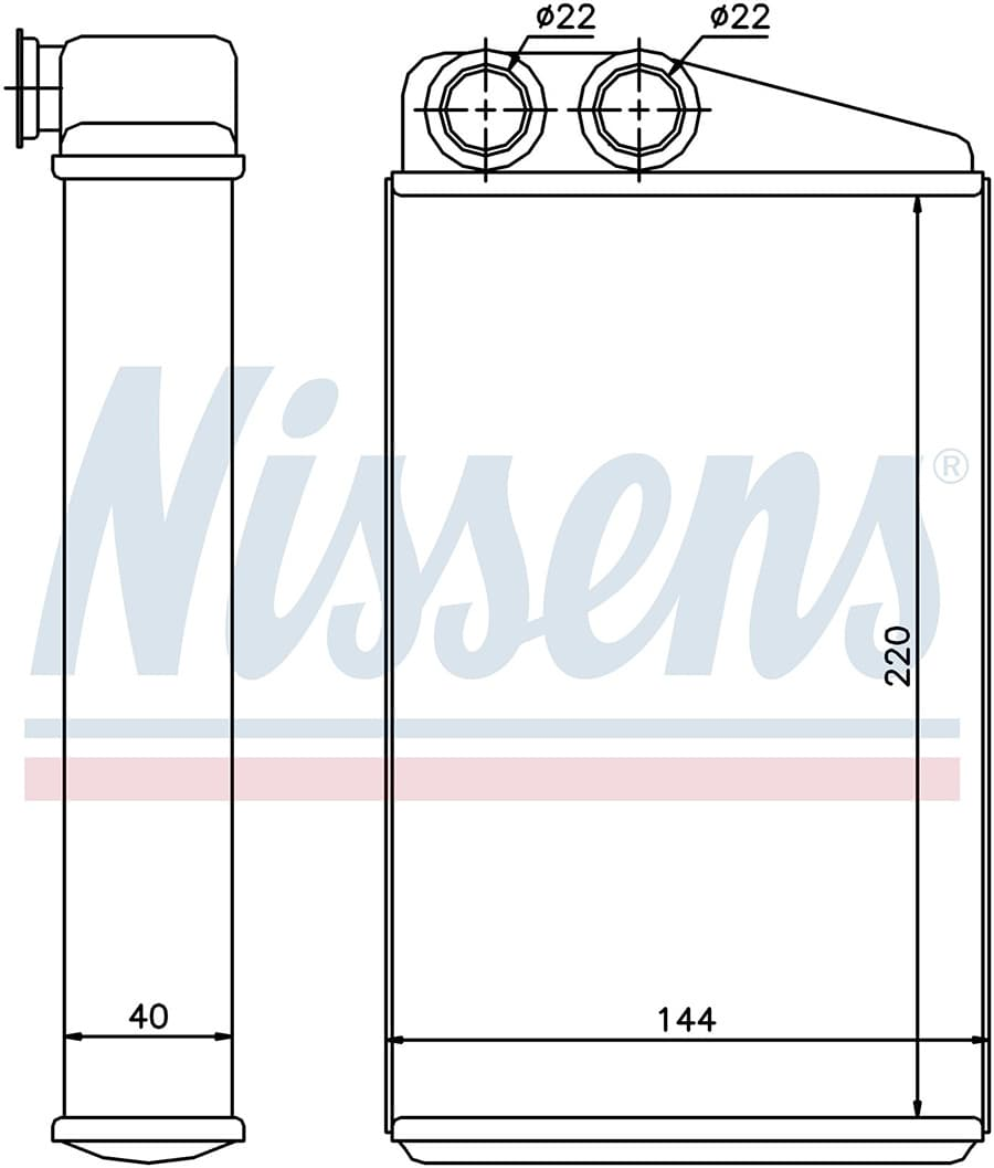Радиатор отопителя 73249 Nissens