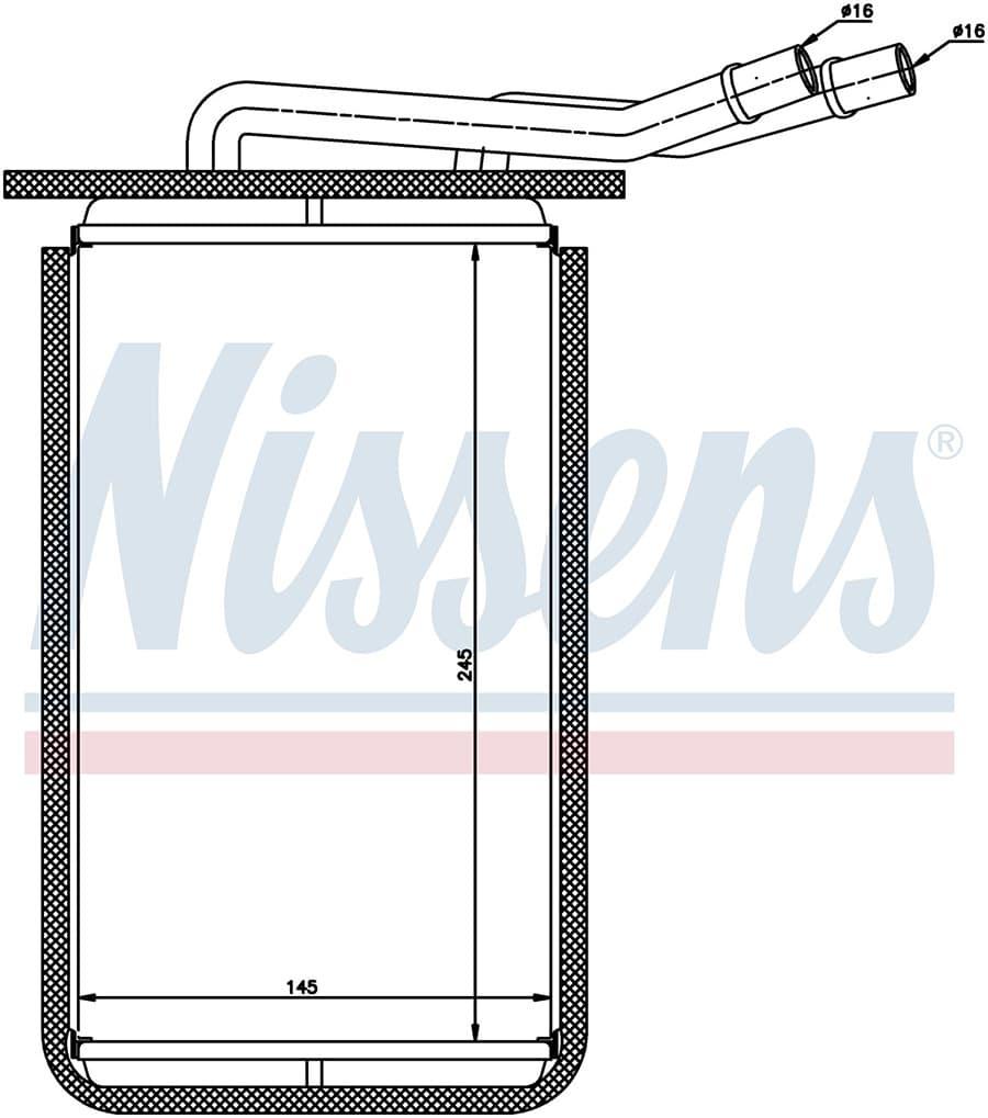 Радиатор отопителя 71769 Nissens