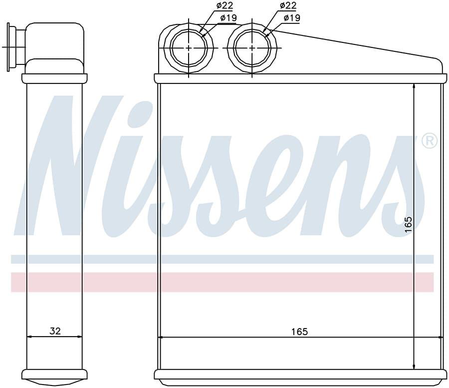 Радиатор печки NISSENS 72206