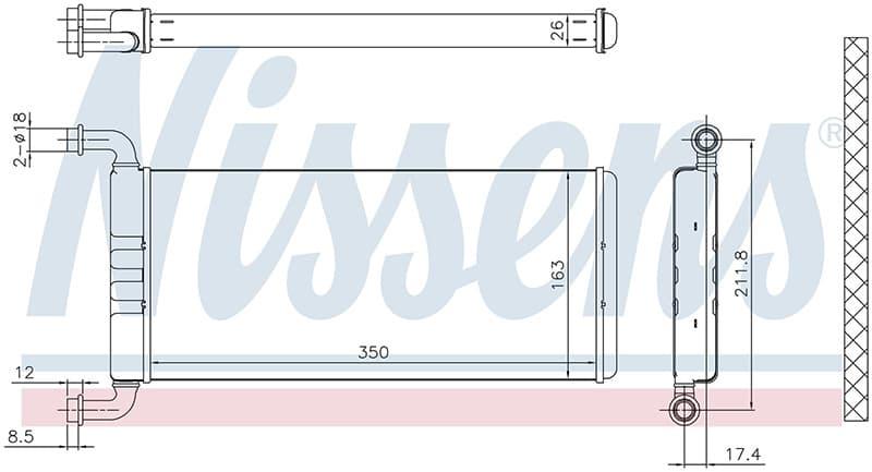 Радиатор отопителя 72041 Nissens