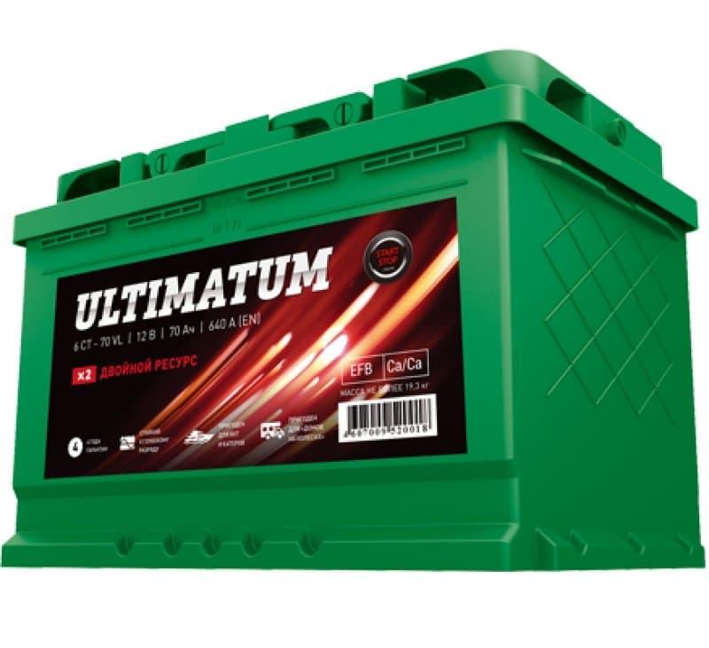 Аккумулятор AKOM ULTIMATUM 70 AGM Евро (70 А·ч)