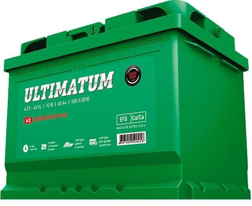 Аккумулятор AKOM ULTIMATUM 60 AGM Евро (60 А·ч)
