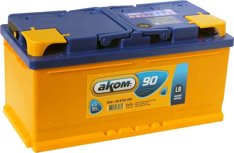 Аккумулятор AKOM 6СТ-90 Евро (90 А·ч)