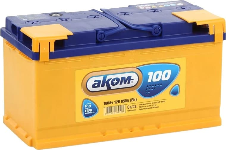 Аккумулятор AKOM 6СТ-100VL (100 А·ч)