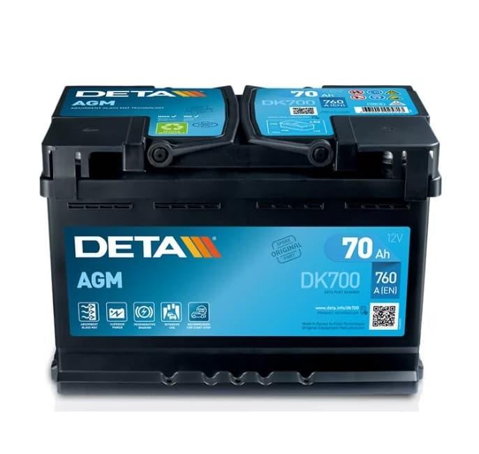 Аккумулятор Deta Micro-Hybrid AGM DK700 (70Ah)
