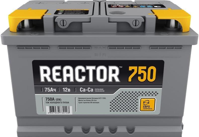 Аккумулятор Аком 6СТ-75 Реактор рус (75 А/ч)