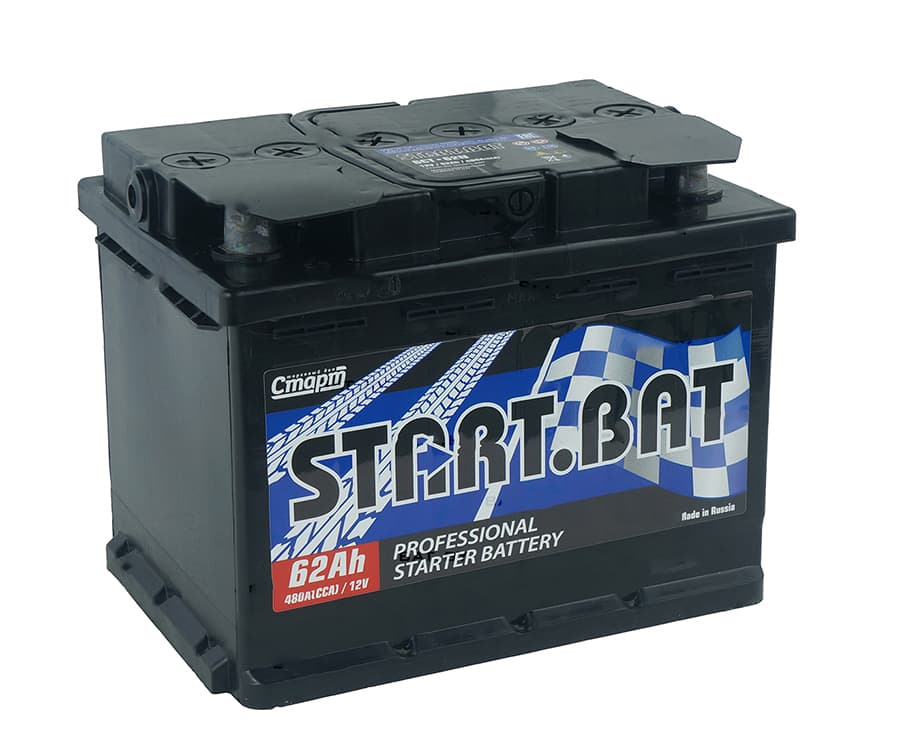 Аккумулятор СтартБат 6СТ-62е (62 А/ч)