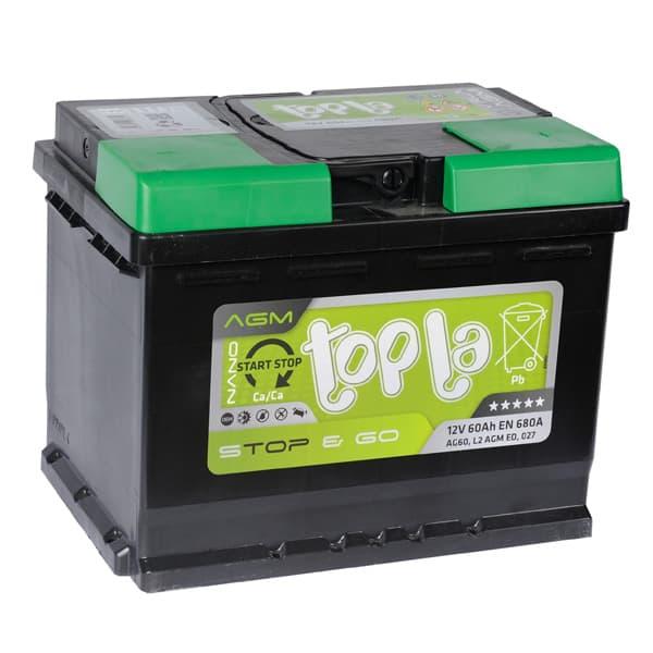 Аккумулятор Topla TOP AGM Stop&Go 60 А/ч