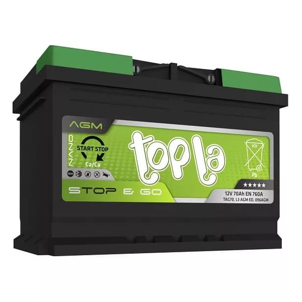 Аккумулятор Topla AGM Stop&Go 70 А/ч